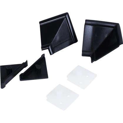 Комплект для установки плинтуса цвет черный цена