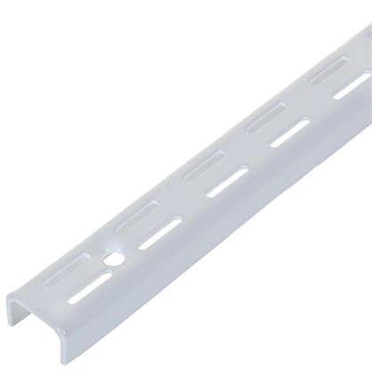 Комплект направляющих двухрядных 100 см нагрузка до 55 кг цвет белый 4 шт.