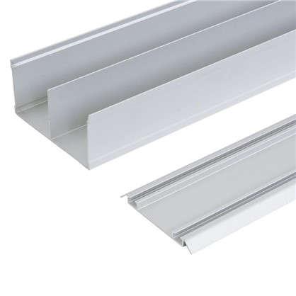 Комплект направляющих Spaceo 2062 мм цвет серебро цена