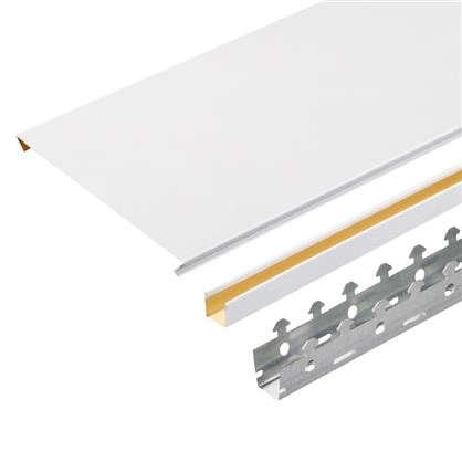 Комплект потолка 1.7х1.7 м цвет белый шёлк