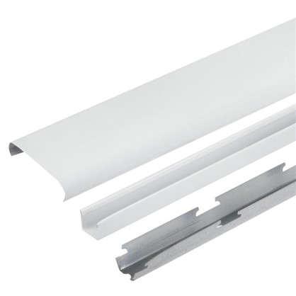 Комплект потолка для туалета 1.35х0.9 м цвет белый глянцевый/металлик цена