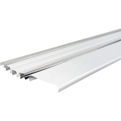 Комплект потолка для туалета 1.35x0.9 м цвет белый матовый/хром