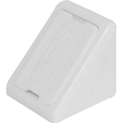Комплект уголков мебельных с шурупами цвет белый 6 шт.