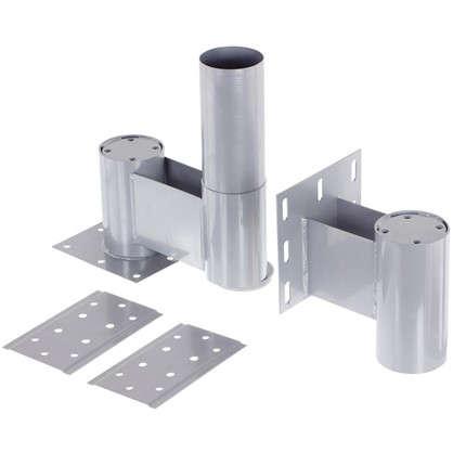 Комплект верх/низ 225 мм сталь цвет алюминий цена