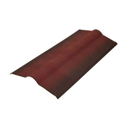 Конек-черепица ондулин цвет красный