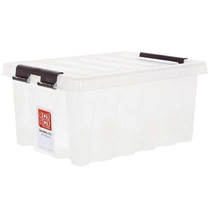 Контейнер Rox Box с крышкой 30x19x40 см 16 л пластик цвет прозрачный