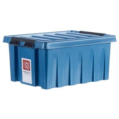 Контейнер Rox Box с крышкой 30x19x40 см 16 л пластик цвет синий цена