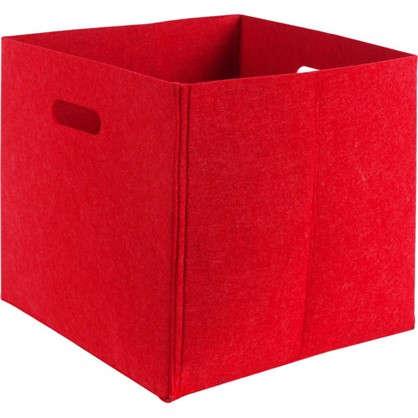 Короб 31х31х31 см войлок цвет красный цена