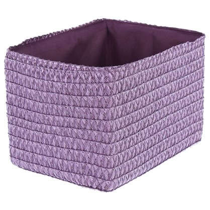 Короб без крышки S 21х16х16 см плетенье цвет лиловый