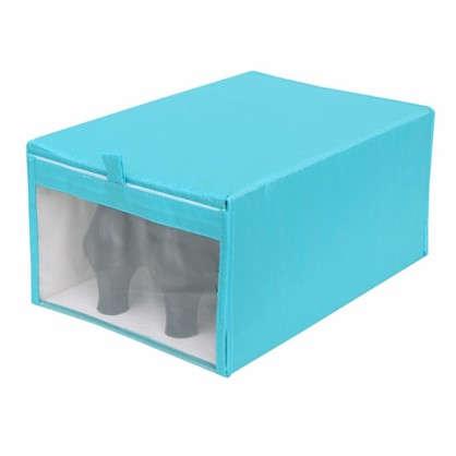Короб Spaceo для обуви 22х16x34 см нетканный материал цвет голубой