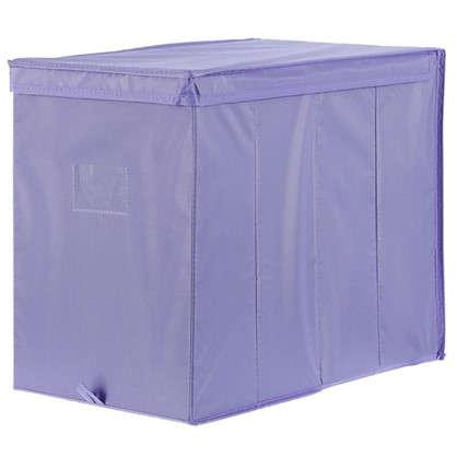 Короб Spaceo с крышкой 27х36x44 см нетканный материал цвет фиолетовый цена