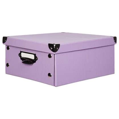 Коробка 34x13.5x24 см картон цвет сиреневый