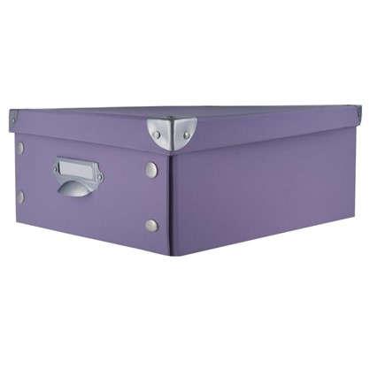 Коробка 37.5x15x27.5 см картон цвет сиреневый