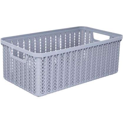 Коробка для хранения Вязание 3 л цвет серый цена