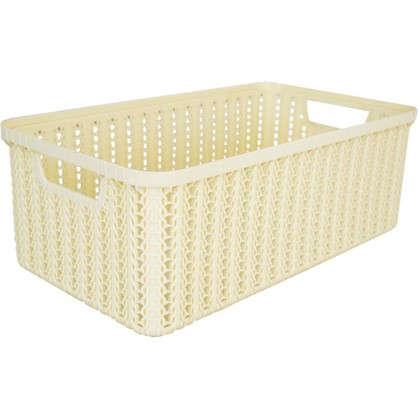 Коробка для хранения Вязание 6 л цвет слоновая кость цена