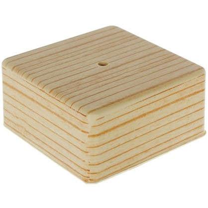 Коробка распределительная ОП 100х100х50 мм цвет сосна цена