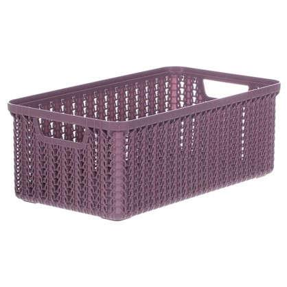 Корзина для хранения Вязание 3 л цвет пурпурный цена