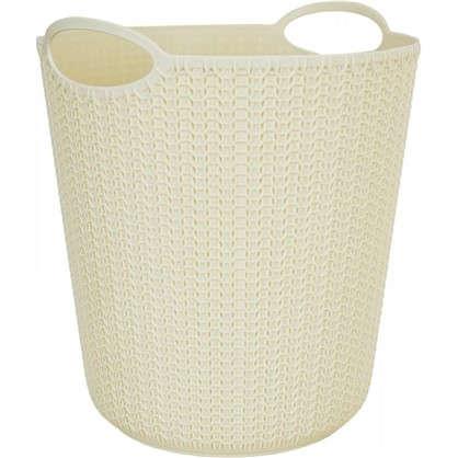 Корзина для мусора Вязание 260х290х260 мм 10 л цвет слоновая кость цена