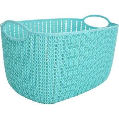 Корзинка для хранения Вязание 7 л цвет морская волна цена