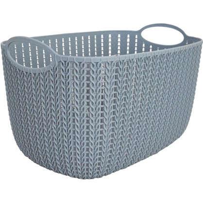 Корзинка для хранения Вязание 7 л цвет серый цена