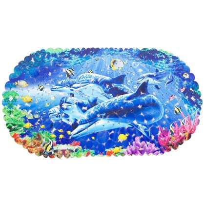 Коврик антискользящий для ванной комнаты 69х39 цвет в ассортименте цена