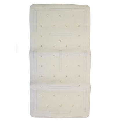 Коврик для ванны 36х71 см цвет белый
