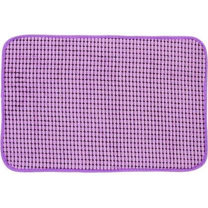 Коврик для ванной Corn 40х60 см цвет фиолетовый