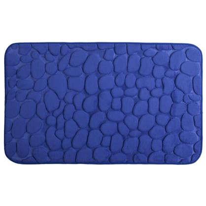Коврик для ванной Luxury 45х75 см цвет синий