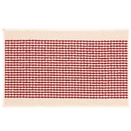 Коврик Париж 50х80 см нейлон цвет бордовый цена