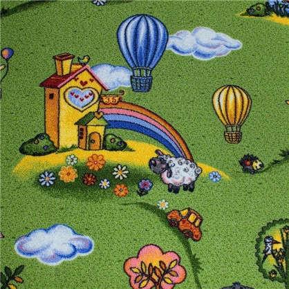 Ковролин Воздушные шары 170 полиамид 2.5 м цвет зелёный