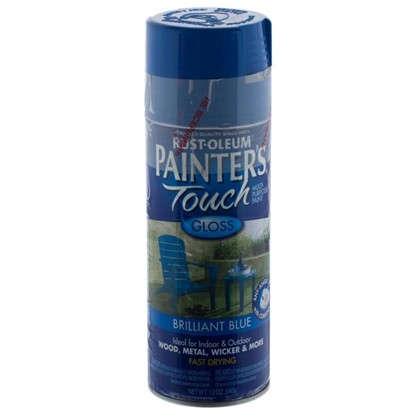 Краска аэрозольная Paint Touch глянцевая цвет голубой 340 г цена