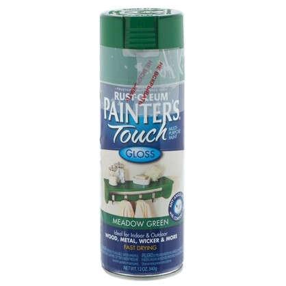Краска аэрозольная Paint Touch глянцевая цвет зеленый 340 г