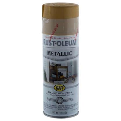 Краска аэрозольная по ржавчине цвет золотистый металлик 340 г цена