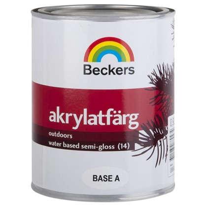 Краска для фасадов Beckers Akrylatfarg 0.9 л цена