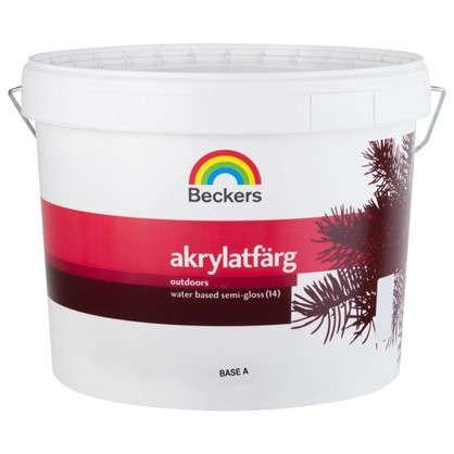 Краска для фасадов Beckers Akrylatfarg 9 л цена