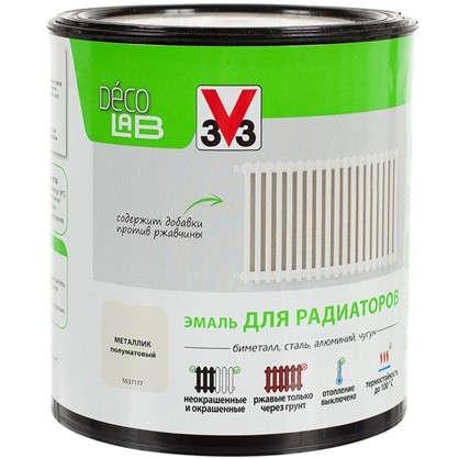 Краска для радиаторов V33 Decolab цвет металлический 0.5 л цена