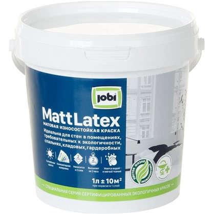 Краска для стен и потолков Jobi Mattlatex база А 1 л
