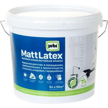 Краска для стен и потолков Jobi Mattlatex база А 5 л цена