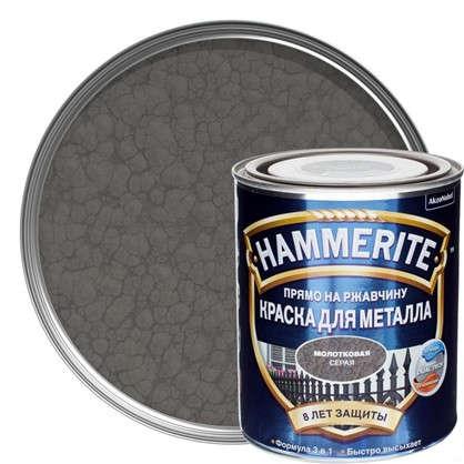 Краска молотковая Hammerite цвет серый 0.75 л цена