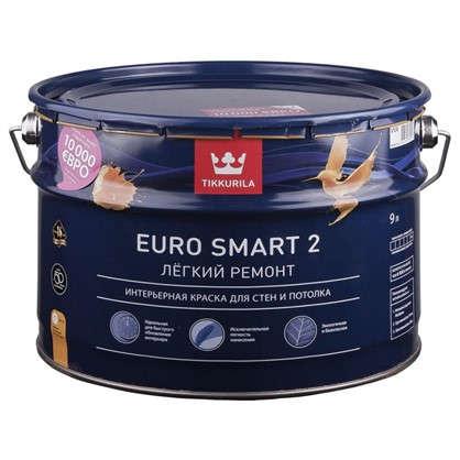 Краска Tikkurila Euro Smart-2 цвет белый 9 л цена