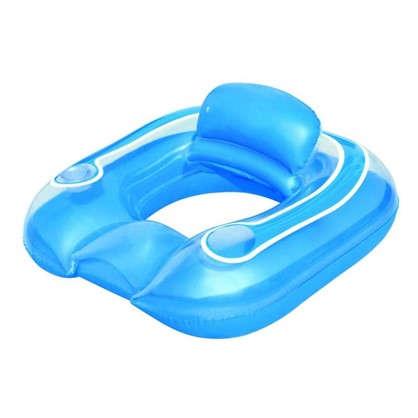 Кресло водное надувное круглое 102х94 см ПВХ цвет голубой в