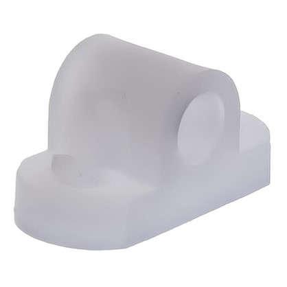 Кронштейн мебельный крепеж пластик цвет прозрачный 8 шт. цена