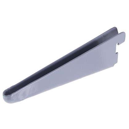 Кронштейн прямой двухрядный 17 см нагрузка до 83 кг цвет алюминий цена