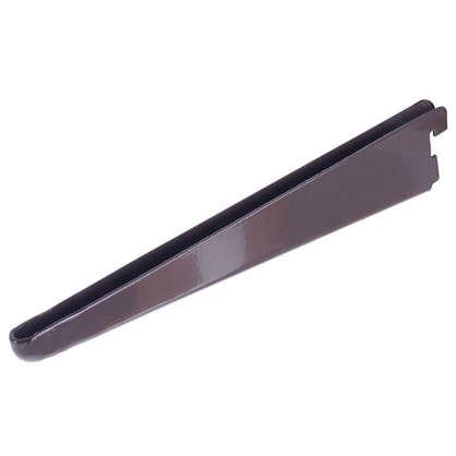 Кронштейн прямой двухрядный 27 см нагрузка до 60 кг цвет коричневый цена