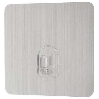 Крючок на силиконовом креплении 6.8x6.8 мм до 1.5 кг цвет серебро 2 шт. цена