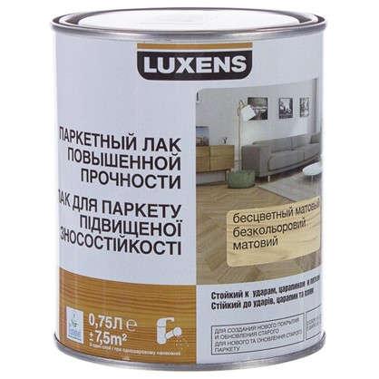 Лак паркетный водный Luxens матовый 0.75 л цена