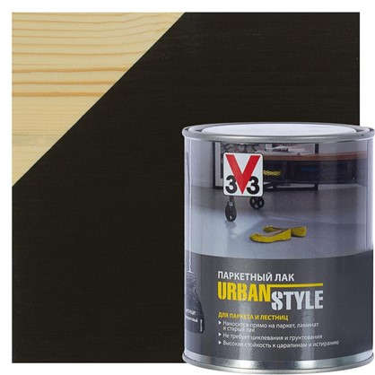 Лак V33 Urban style цвет антрацит 0.75 л