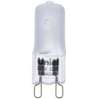 Лампа галогенная Uniel G9 60 Вт свет теплый белый цена