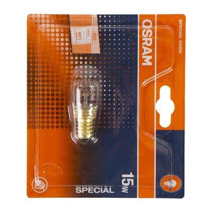 Лампа накаливания для духовки Osram трубчатая E14 15 Вт свет тёплый белый