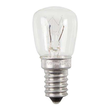 Лампа накаливания для холодильника Osram трубчатая T26/57 E14 25 Вт свет тёплый белый цена